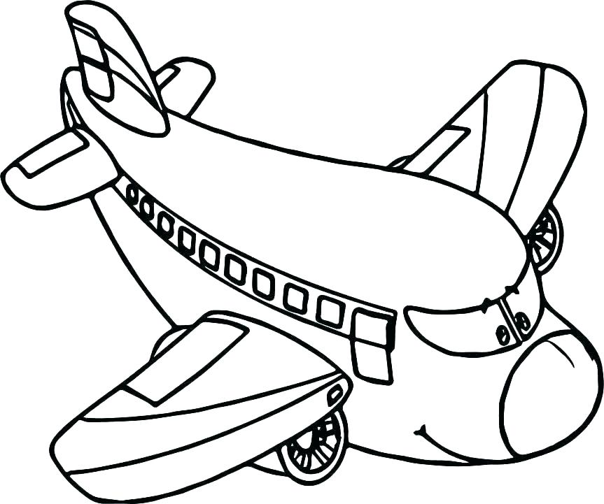 863x721 Airplane Coloring Pages Easy Helicopter To Color