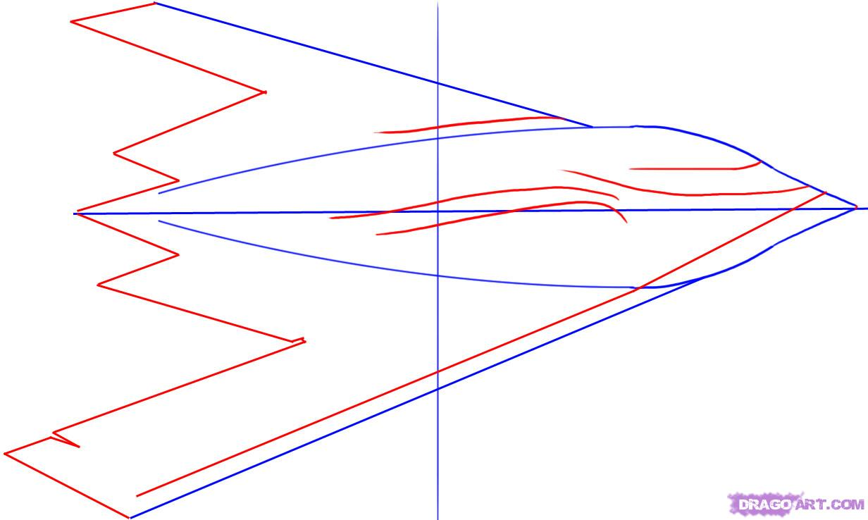 1232x738 Draw A Stealth Bomber, Step