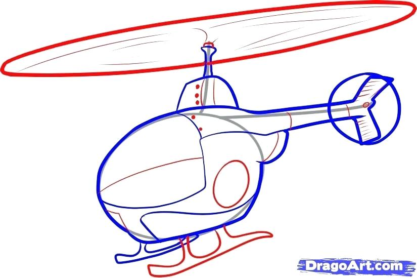 825x549 How To Draw A Helicopter Step