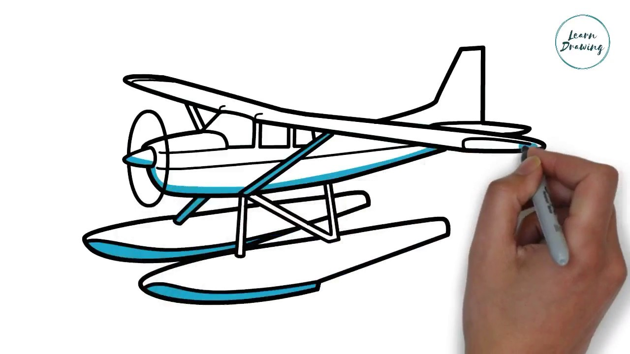 1280x720 How To Draw A Sea Plane On Paper Step