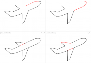 300x210 Airplane Drawing Step