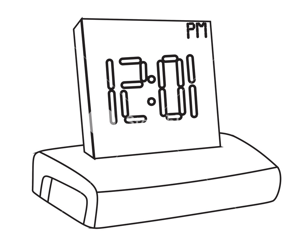 1000x818 Alarm Clock Drawing Royalty Free Stock Image
