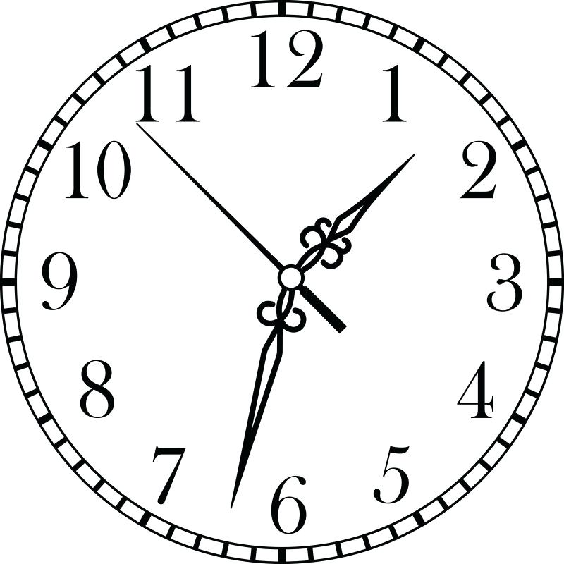 800x800 How To Draw A Clock Step
