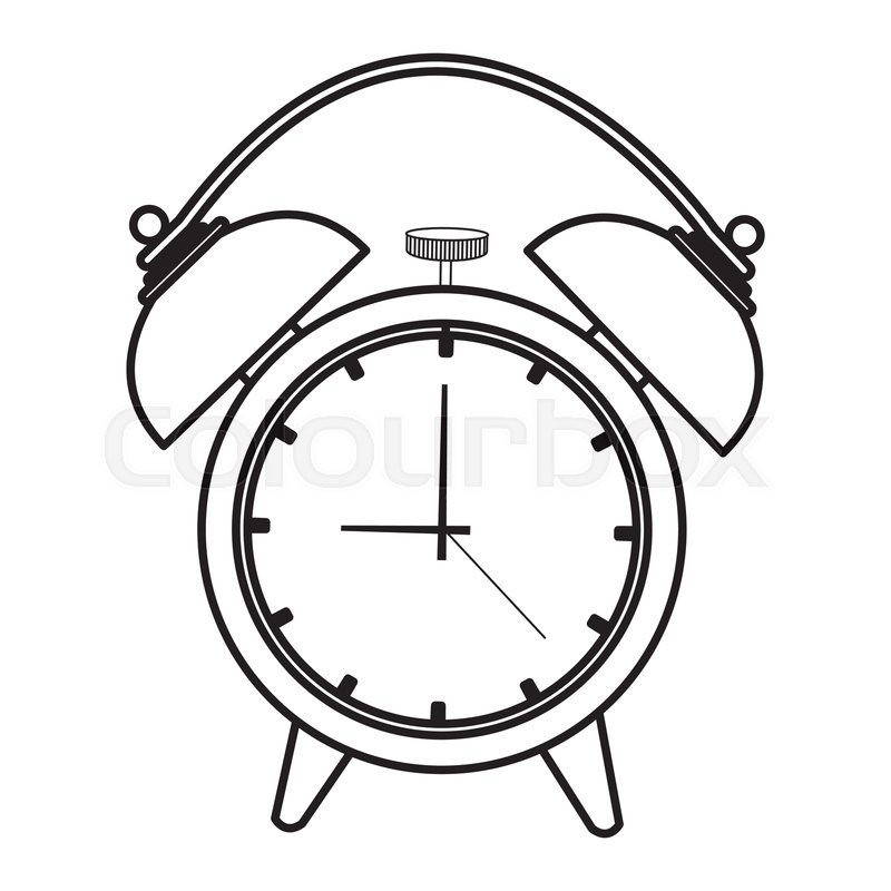 800x800 Alarm Clock, Wake Up Time Ring Icon Stock Vector Colourbox