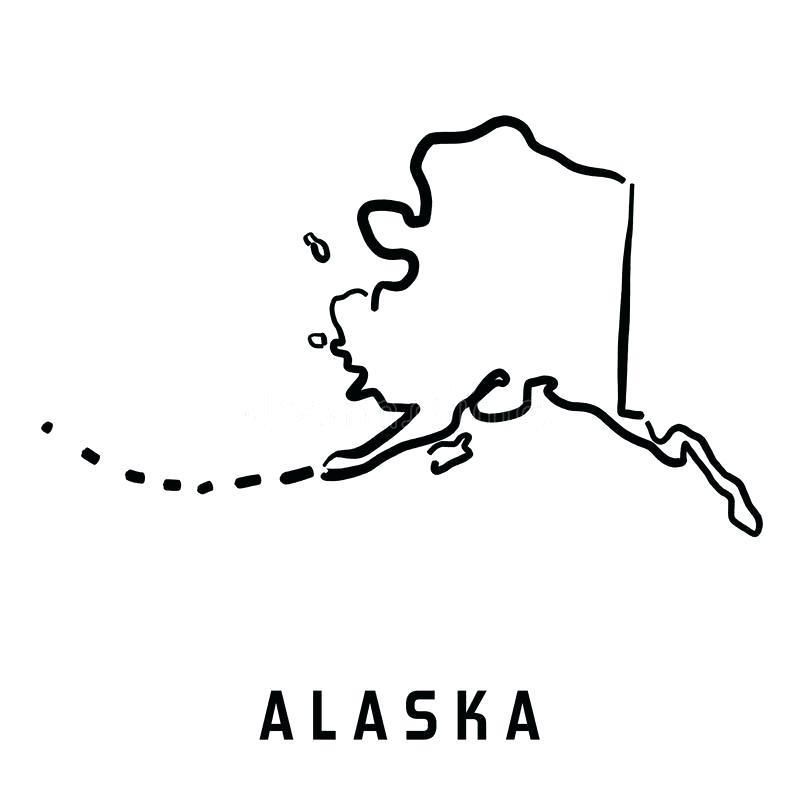 800x800 alaska outline outline map set alaska outline vector