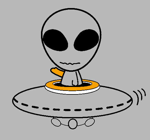 Alien Cartoon Drawing