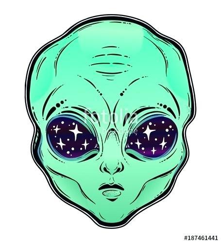 455x500 alien head drawing imaginative alien head alien head drawing easy