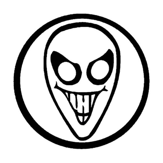 Alien Head Drawing