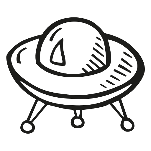 Alien Ship Drawing