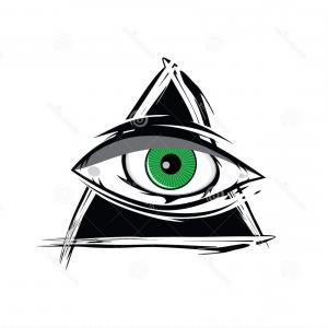 300x300 Photostock Vector Hand Drawn Vector Illustration All Seeing Eye
