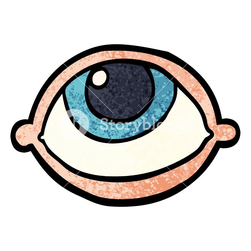 1000x1000 Grunge Textured Illustration Cartoon All Seeing Eye Royalty Free