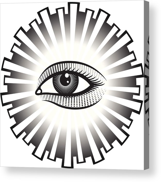 663x750 All Seeing Eye On White Background Acrylic Print