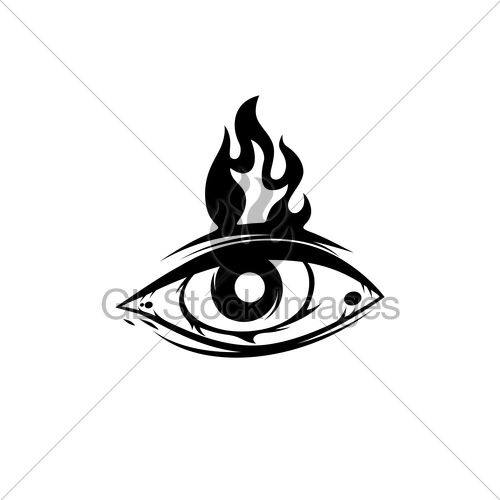 500x500 All Seeing Eye Theme Logo Template Gl Stock Images