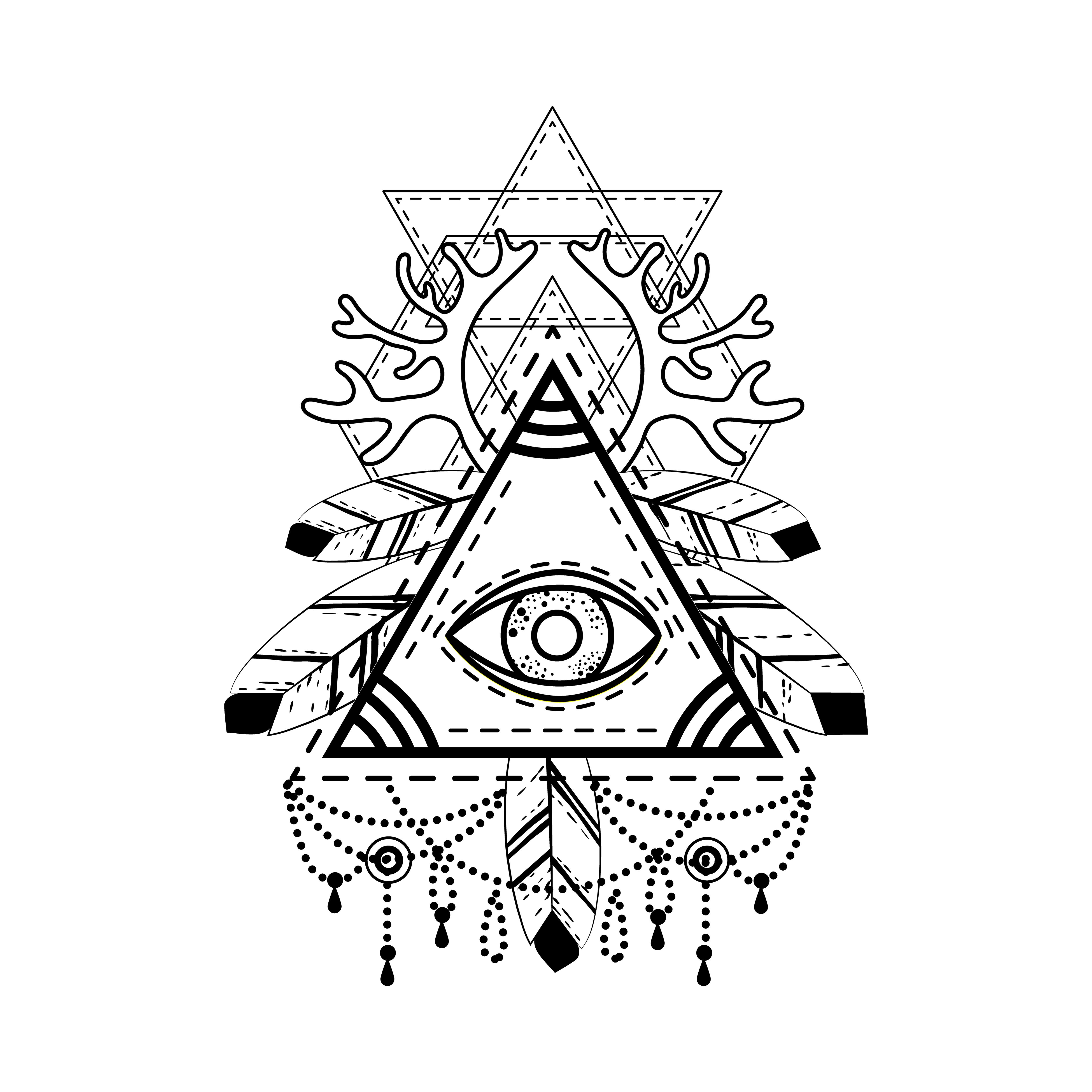 4991x4991 All Seeing Eye Pyramid Symbol