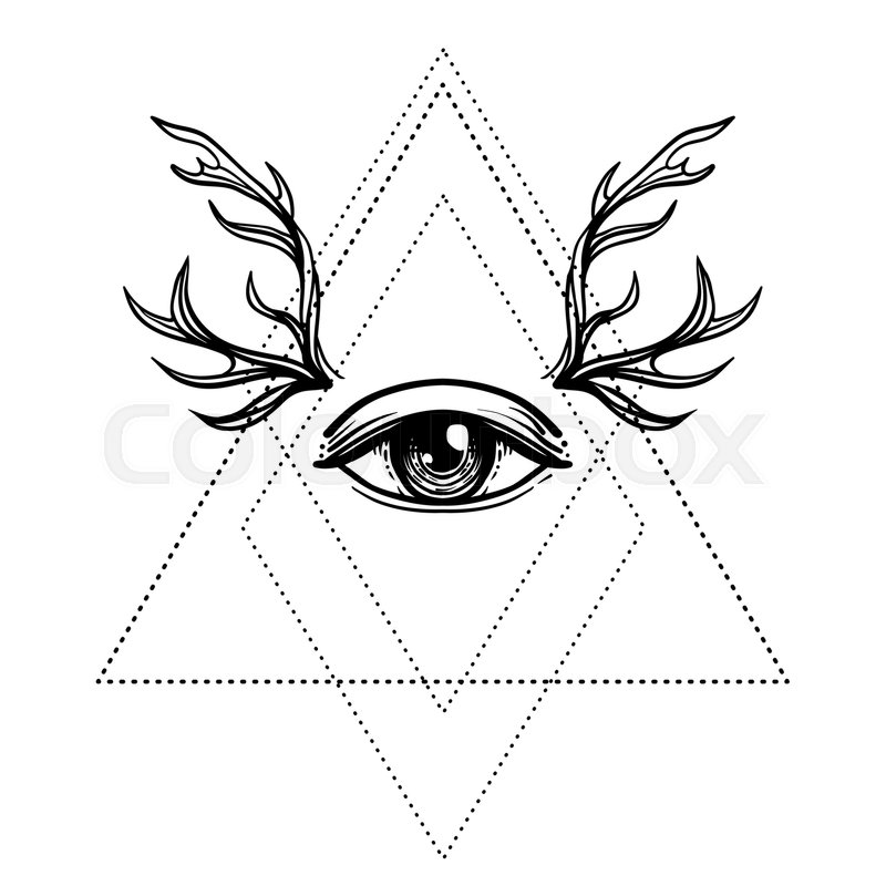 800x800 All Seeing Eye Symbol Over Rose Flower Stock Vector Colourbox