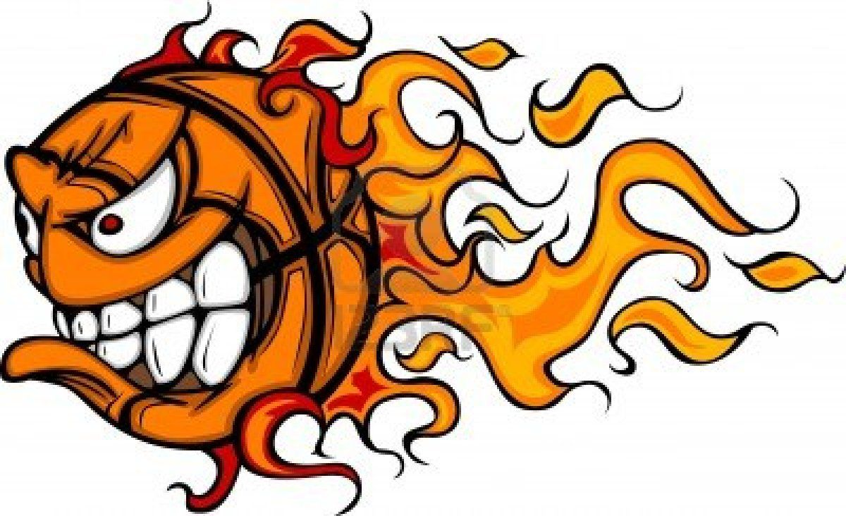 1200x732 flaming basketball face cartoon basketball logo basketball