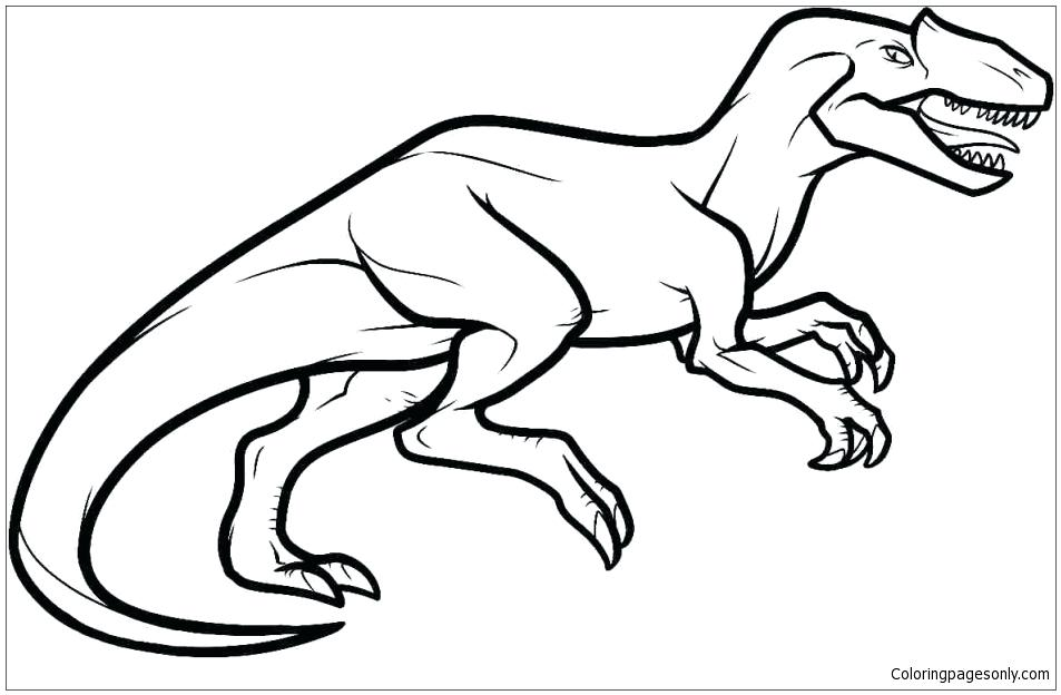 953x624 allosaurus lineart drawing for free download