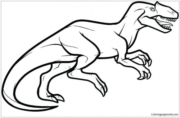 600x393 allosaurus pictures to color