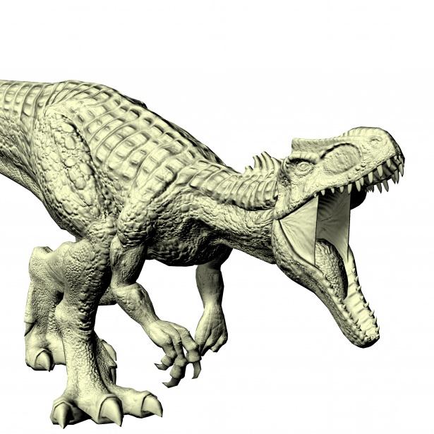 615x615 attacking allosaurus free stock photo