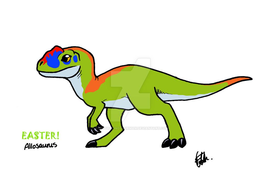 1024x708 baby easter allosaurus