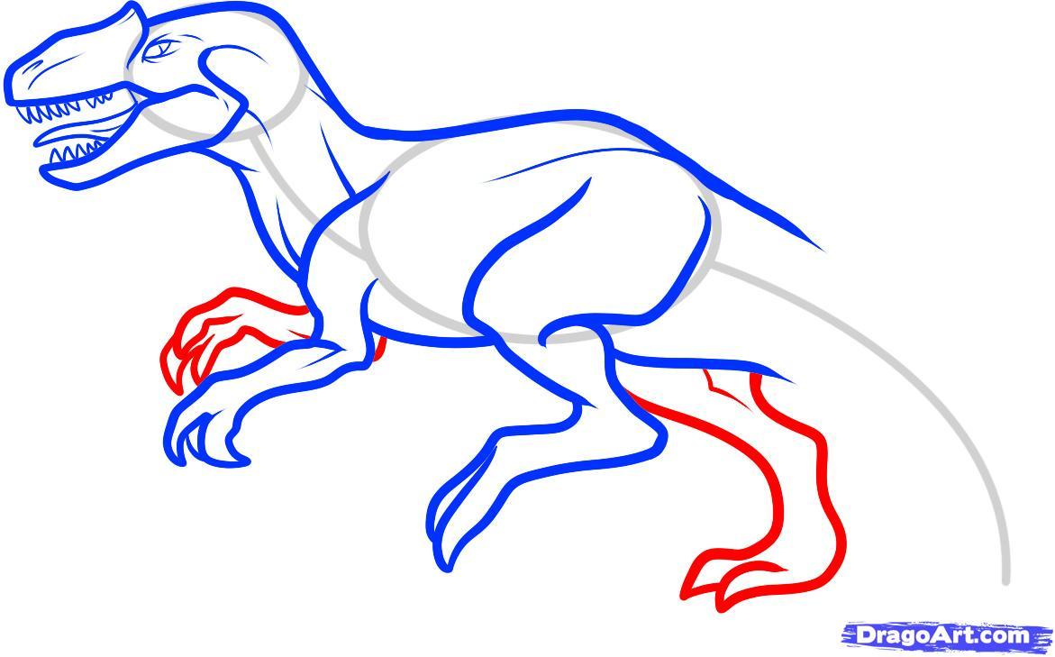 1171x729 draw an allosaurus, step