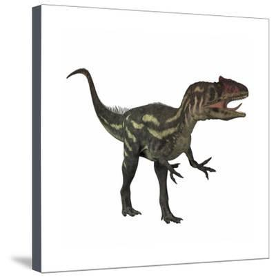 400x401 allosaurus, a prehistoric era dinosaur prints