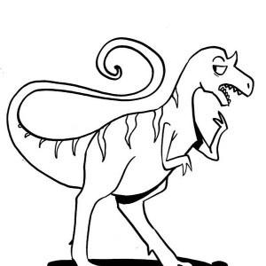 300x300 allosaurus coloring page drawing of dancing allosaurus coloring