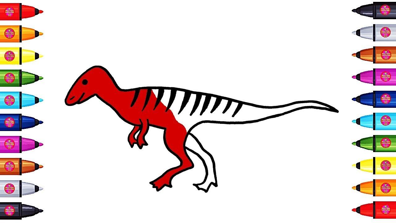 1280x720 allosaurus drawing and coloring