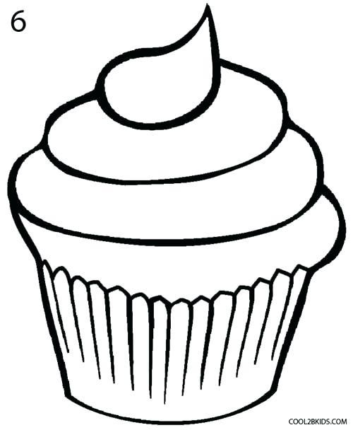 500x608 How To Draw A Cupcake How To Draw Cupcake Unicorn Rainbow Cute