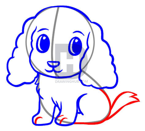 473x428 How To Draw An Easy Dog, Step