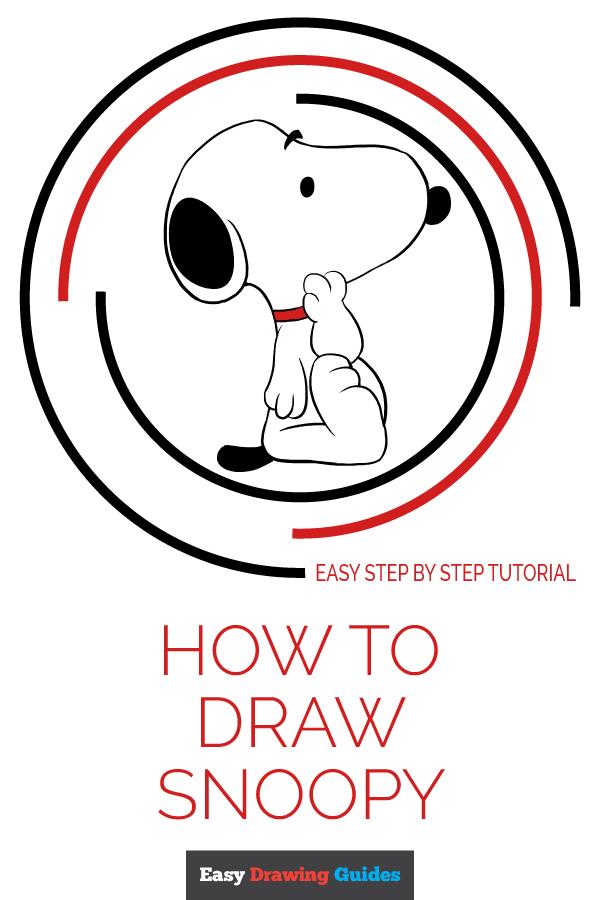 600x900 How To Draw Snoopy