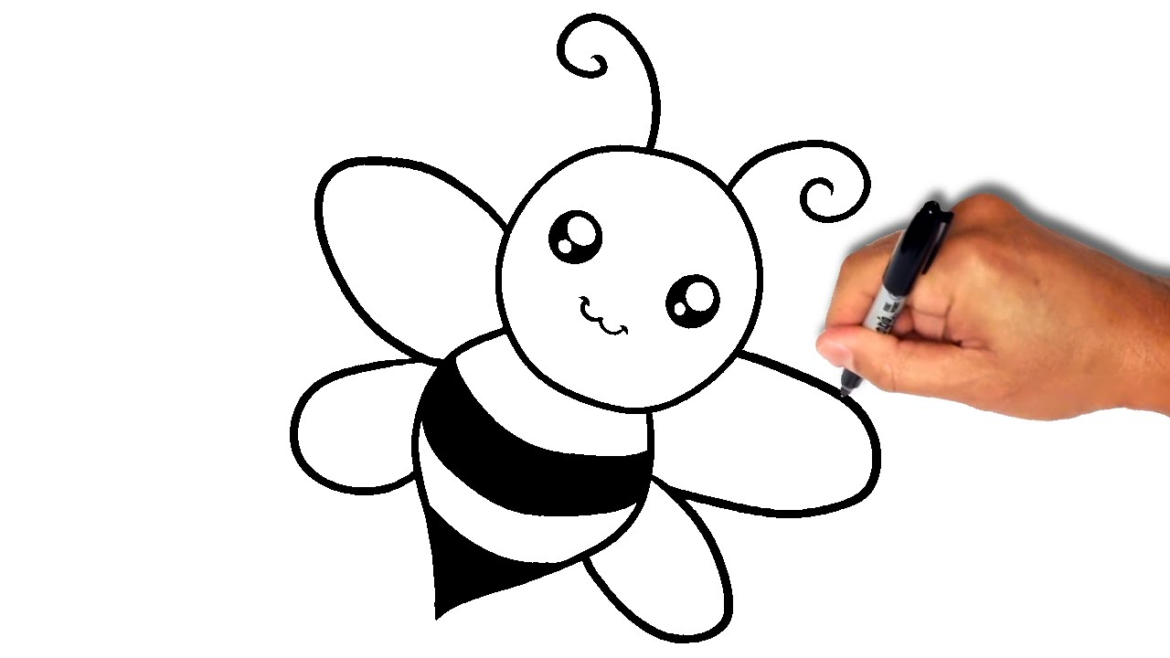 1280x720 How To Draw A Bee