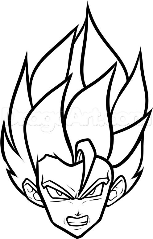 496x771 Step How To Draw A Super Saiyan Easy