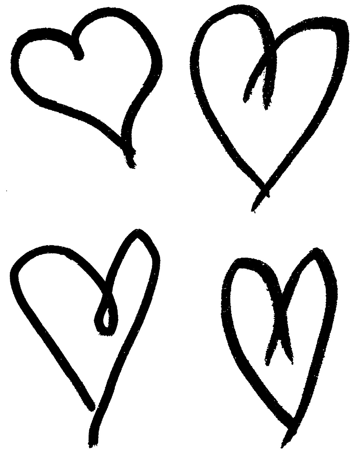 1237x1600 Collage Drawing Heart For Free Download