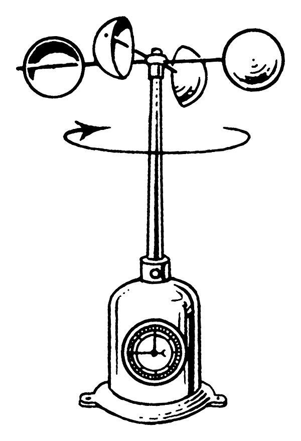 600x879 round badge style keyring line drawing anemometer