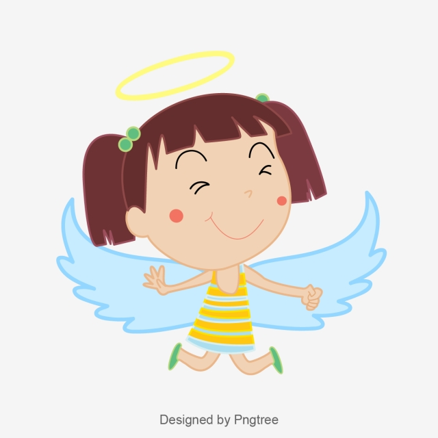 640x640 cartoon vector lovely angel, cartoon, lovely, angel png and vector
