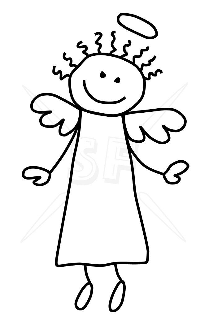 675x1050 Click To Close Printables Angels Art, Stick Figures, Drawings
