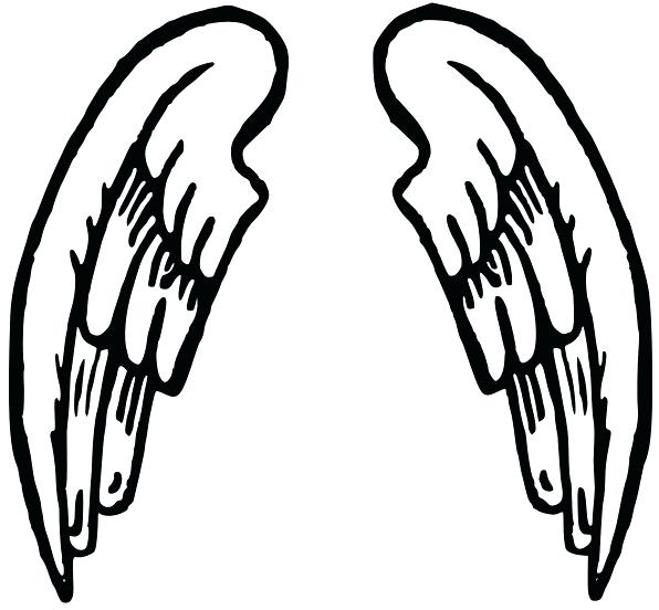 596x552 Drawings Of Angels For Kids Guardian Angel Drawings Drawing