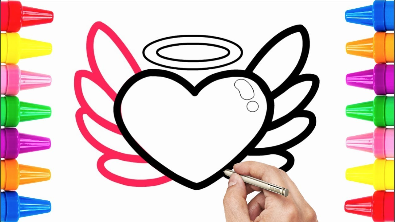 1280x720 How To Draw A Heart Half Demon And Half Angel Drawing Pages
