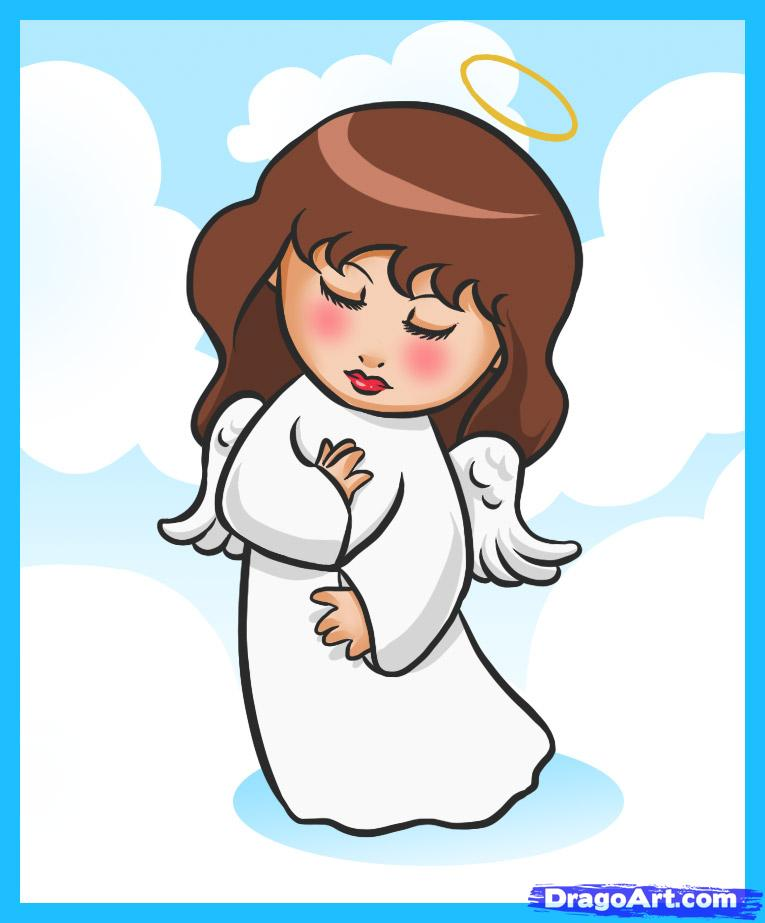 765x923 How To Draw A Simple Angel, Step