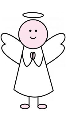 215x382 How To Draw An Angel For Children Kids Drawing Angel Drawing