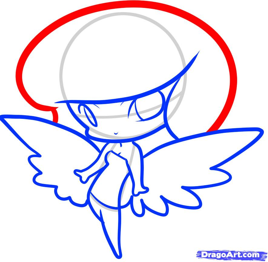 885x864 How To Draw An Angel For Kids, Step