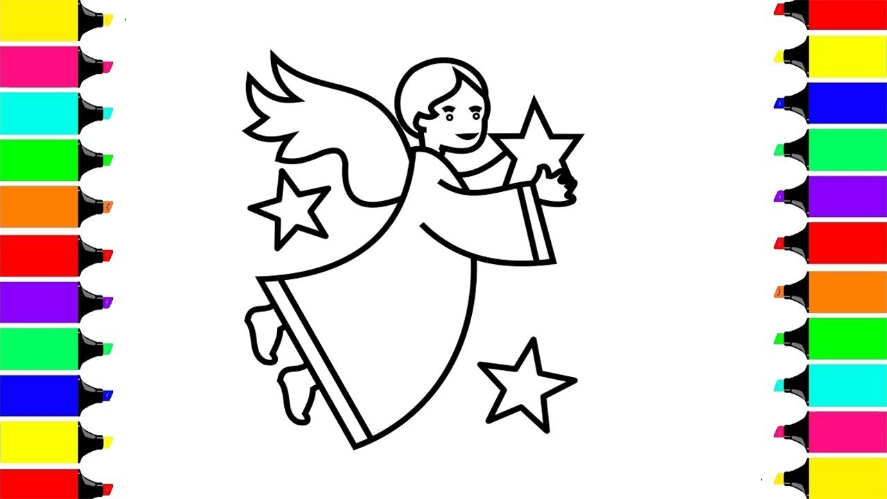 1280x720 Super Cute Angel Coloring Pages How To Coloring And Drawing