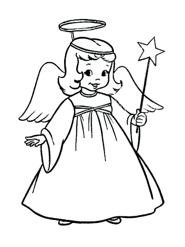 600x799 Angel Drawings For Kids