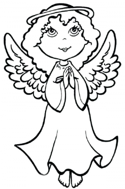 250x379 Angels Clipart Colouring, Picture