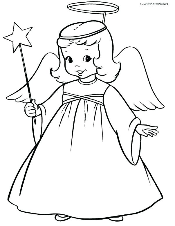 603x779 Beautiful Angel Coloring Pages Pictures Weeping