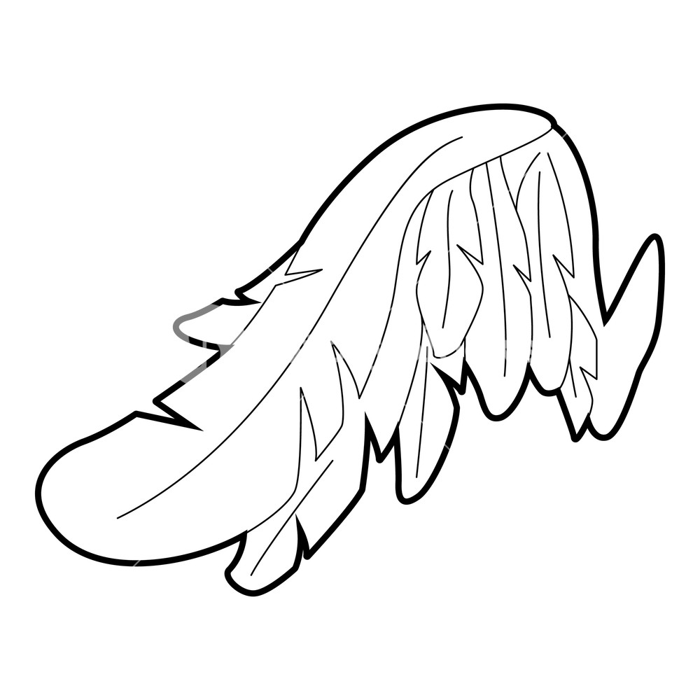 1000x1000 angel wing icon outline illustration of angel wing vector icon