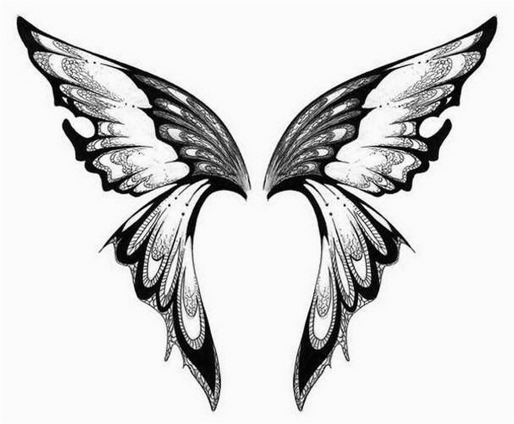 graphic relating to Printable Tattoo Stencils named Angel Wings Tattoo Drawings No cost obtain easiest Angel Wings