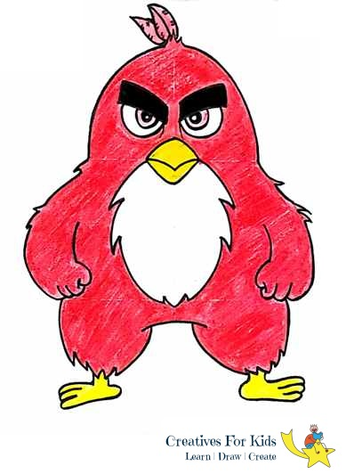 389x532 How To Draw Angry Bird Syep