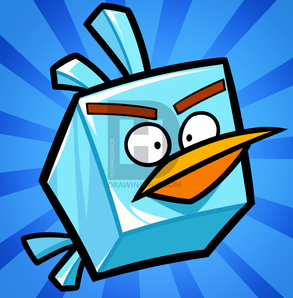 945x963 How To Draw An Ice Bird, Angry Birds Space, Step